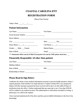 New Patient Registration PDF
